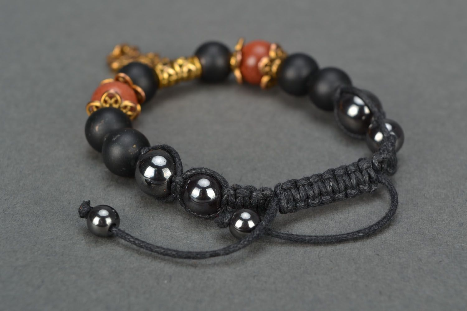 Beautiful bracelet with natural stones photo 4