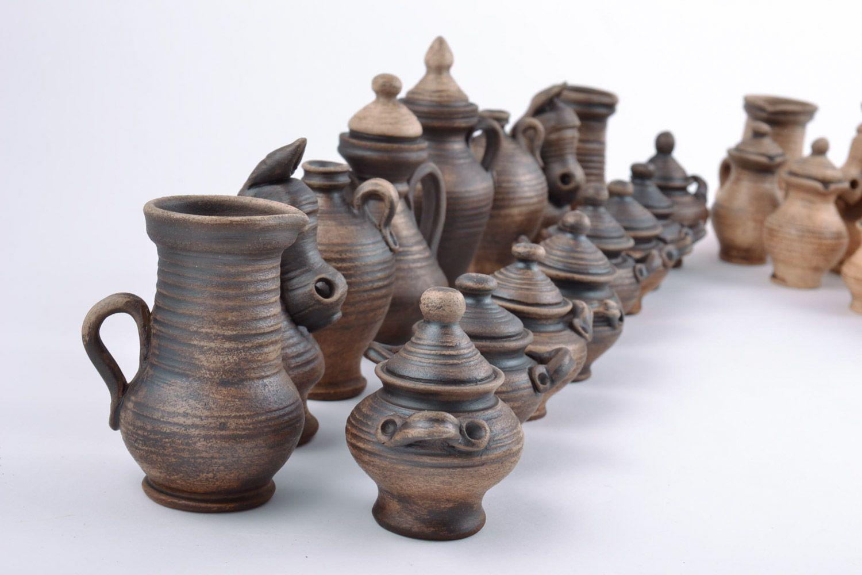 Авторские керамические фигурки для шахмат коллекционные ручной работы на подарок фото 4