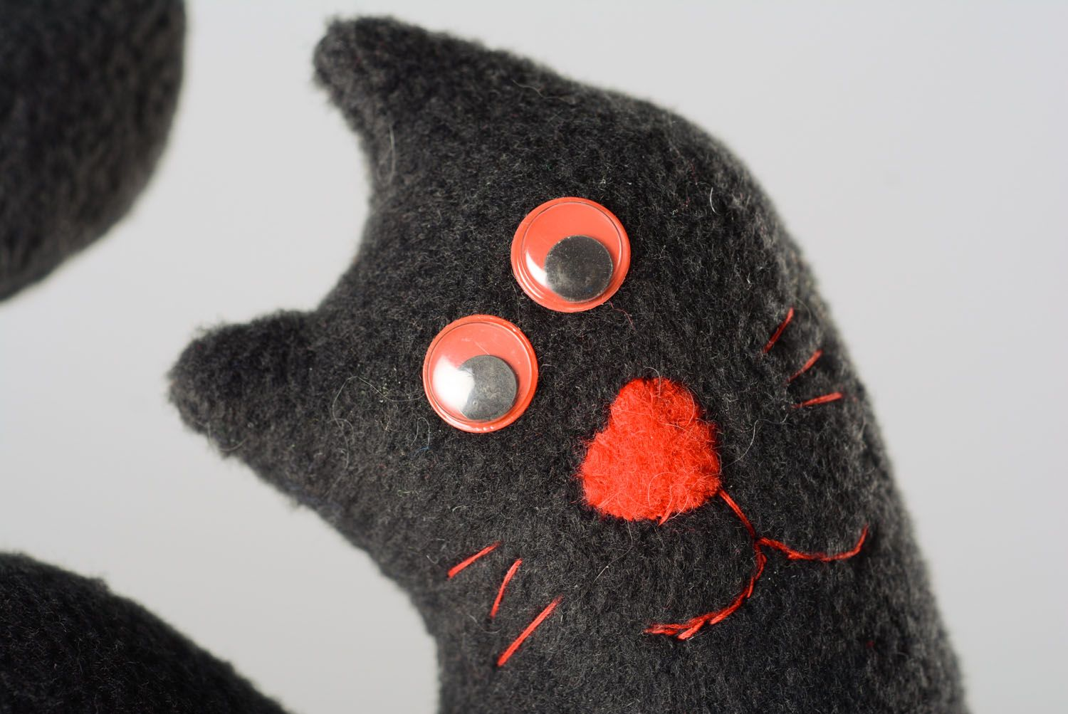 Soft toy for the door handle Black Cat photo 2