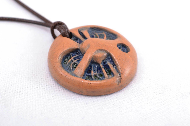 Ceramic pendant in ethnic style photo 2