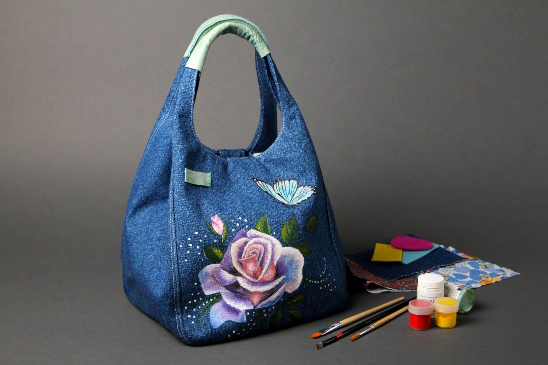 fe9c01470b20 cумки женские Сумка ручной работы женская сумка авторская тканевая сумка из  джинсовой ткани - MADEheart.