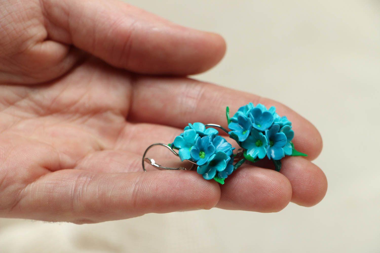 Polymer clay flower earrings photo 3