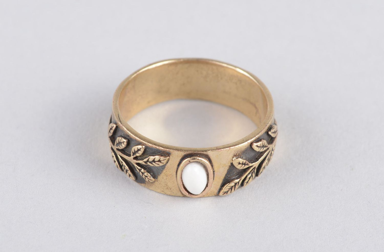 Handmade women ring bronze rings for women metal jewelry for women metal ring photo 7