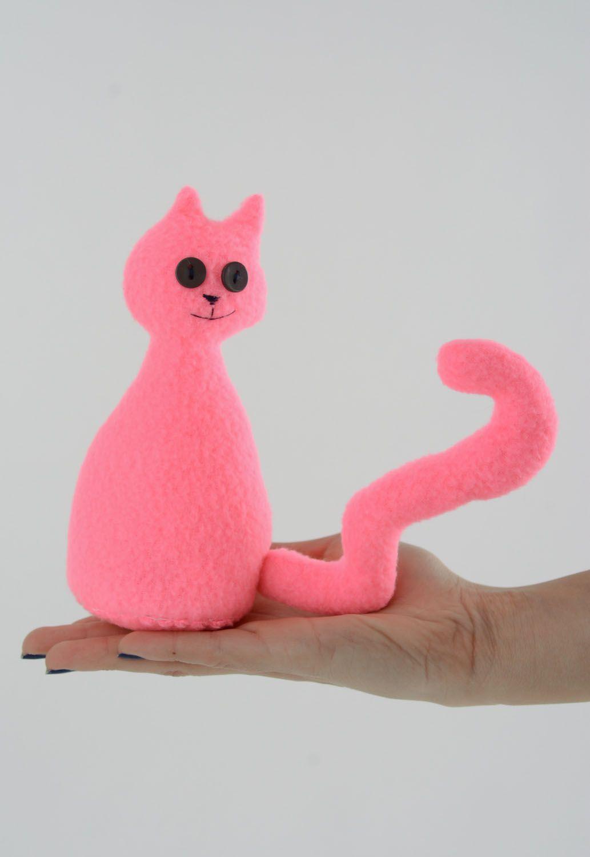 Fleece toy Pink Cat photo 4