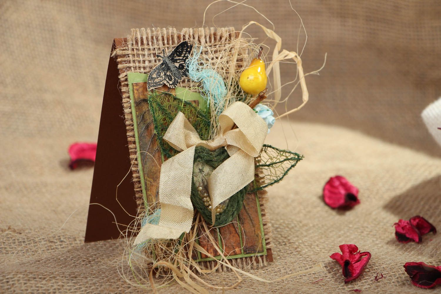 Handmade greeting card in eco style photo 5