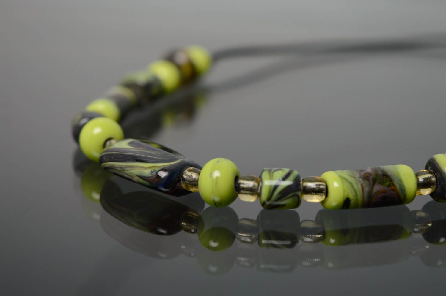 Lampwork glass necklace photo 4