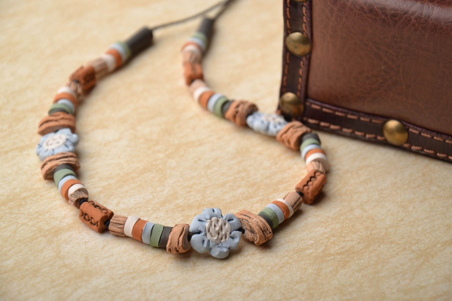 Beautiful ceramic necklace photo 1