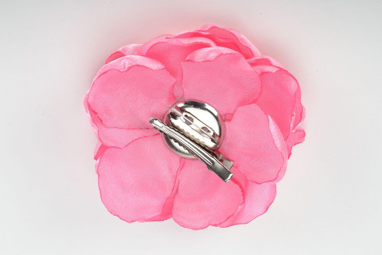 Flower brooch pin Pink Flower photo 5