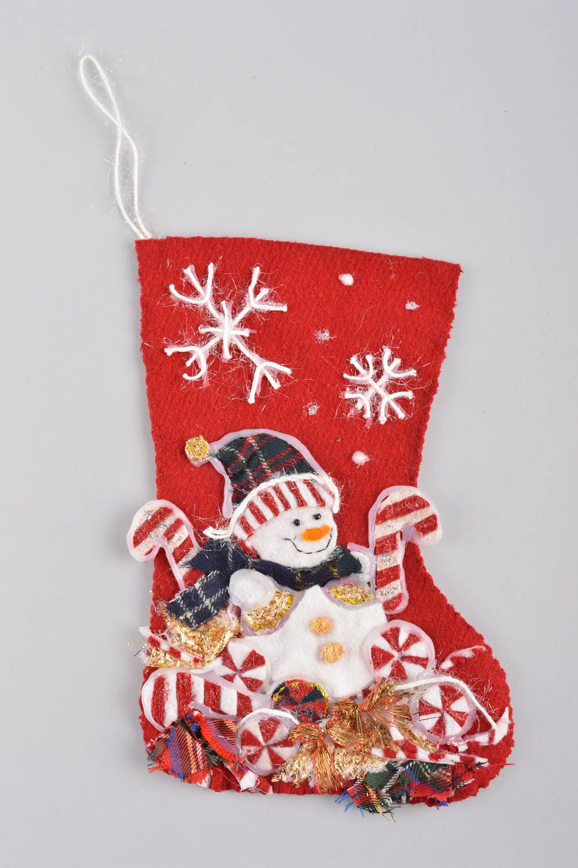 Madeheart calcet n de navidad artesanal elemento - Decoracion navidena artesanal ...