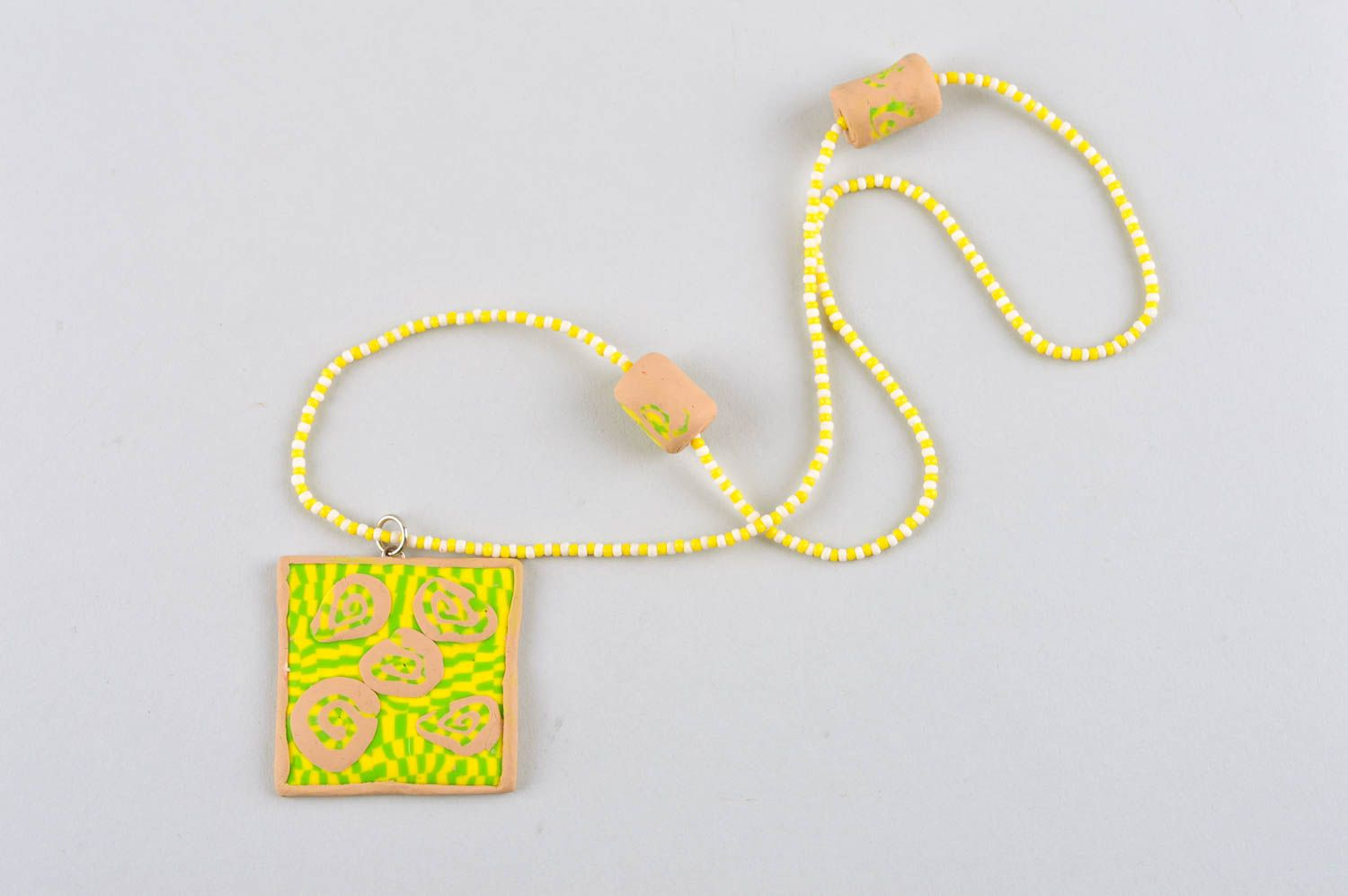 Polymer clay pendant necklace handmade charm necklace gift ideas for women  photo 4
