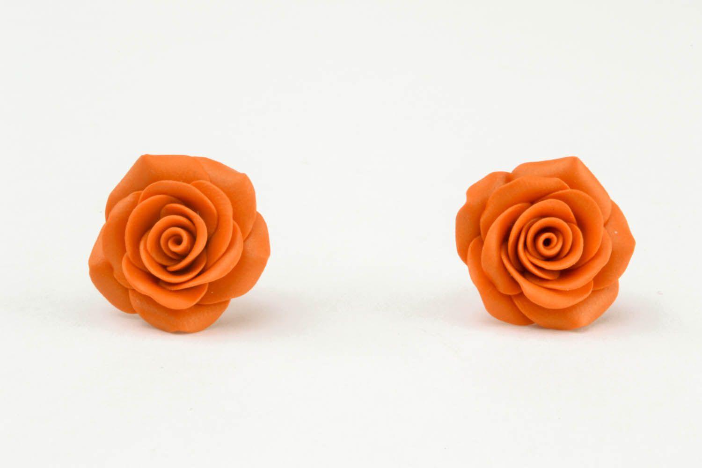 Flower-shaped earrings photo 4