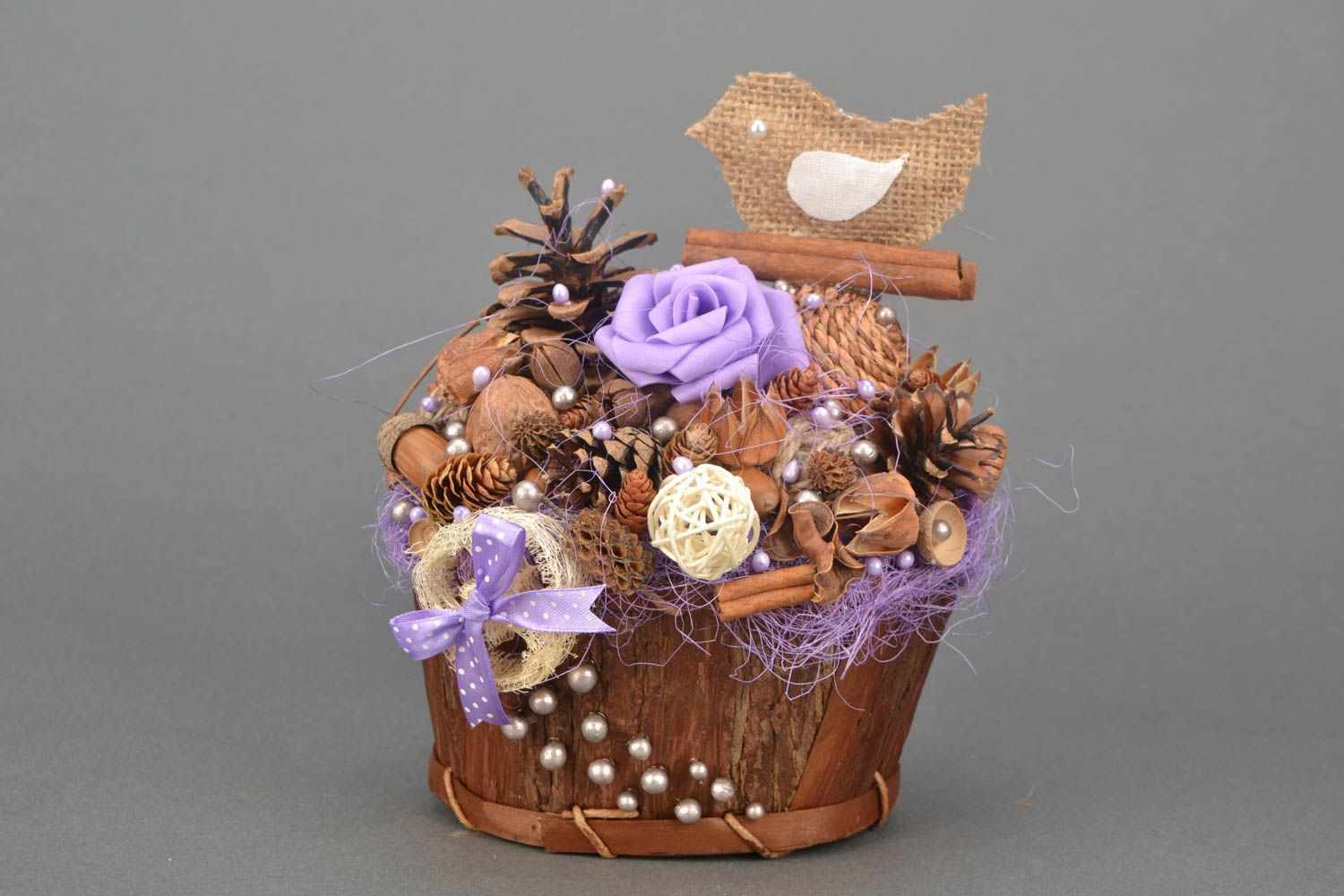 Ornamental basket for desktop decor photo 1