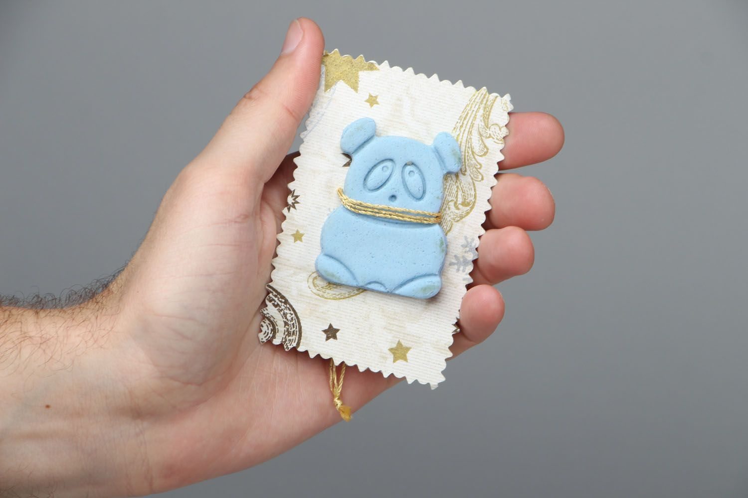 Flavored cookie in the shape of panda photo 4