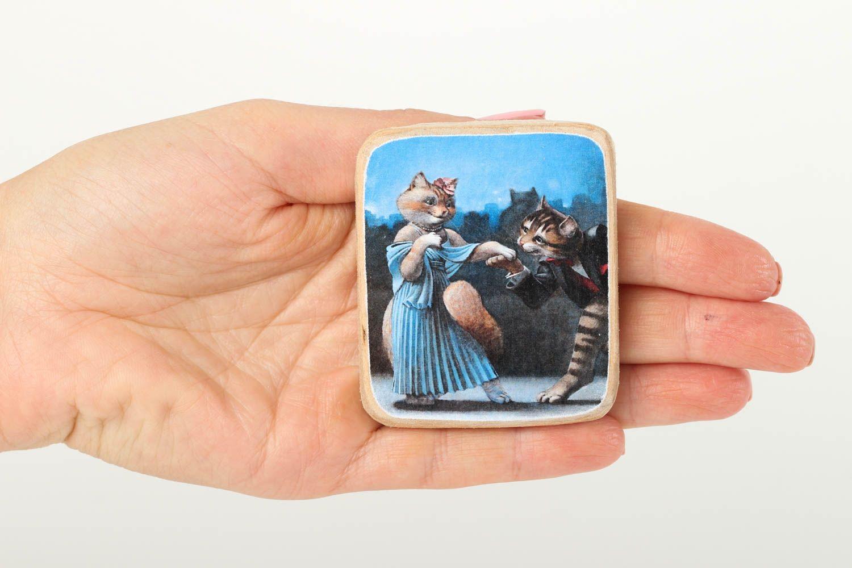 Handmade romantic fridge magnet wooden interior element decorative use only photo 5