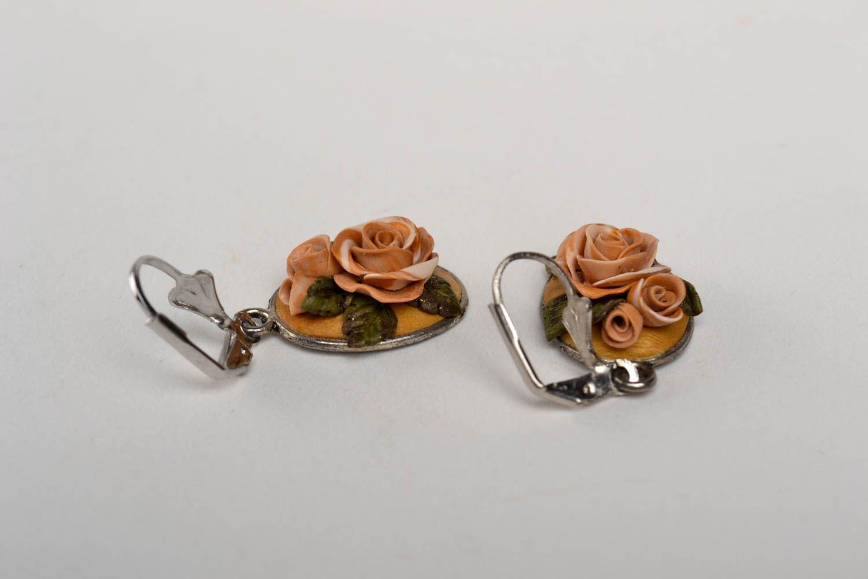 Handmade stylish tender earrings elite bijouterie elegant beautiful earrings photo 4