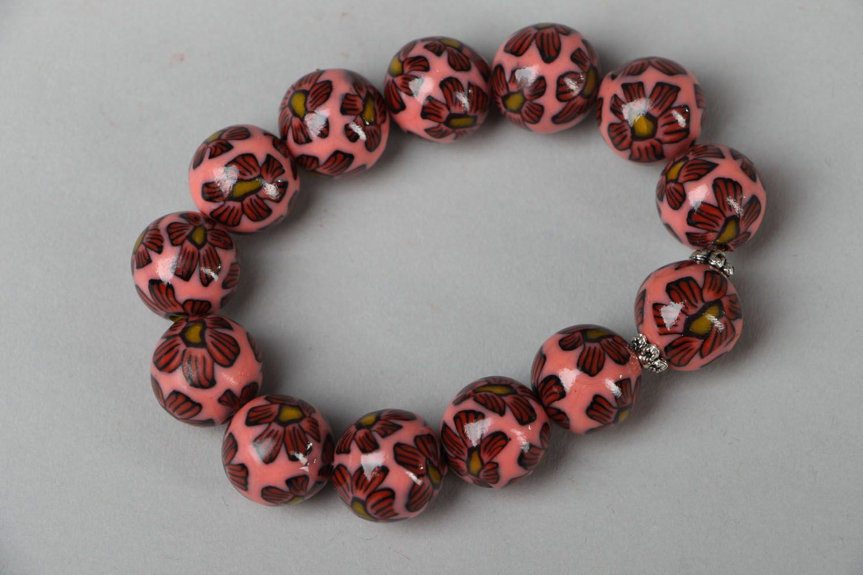 Polymer clay bracelet Pink Dream photo 2