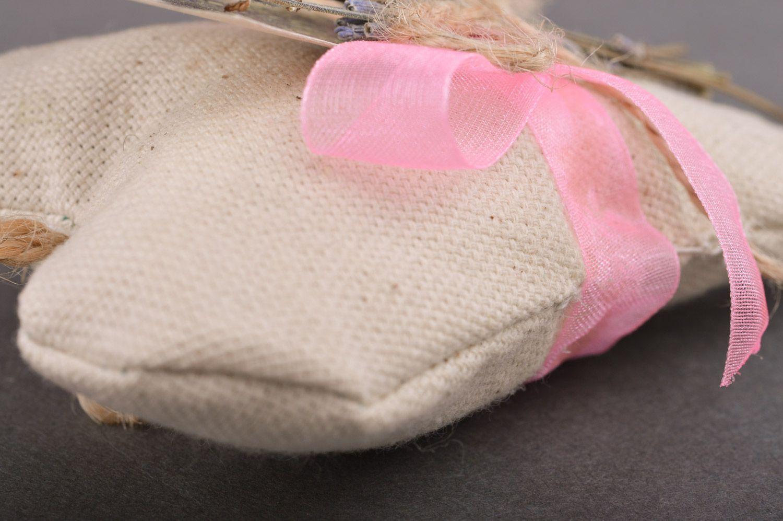 Handmade linen fabric sachet pillow filled with aroma herbs photo 2