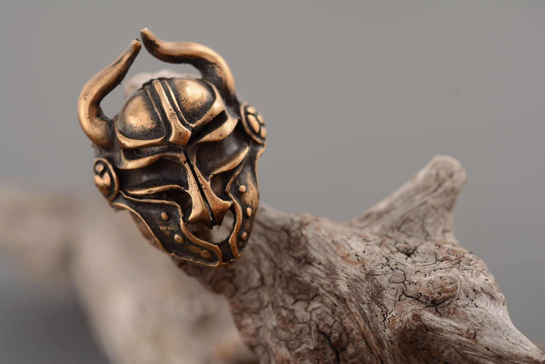 Bronze ring Viking Helmet photo 2
