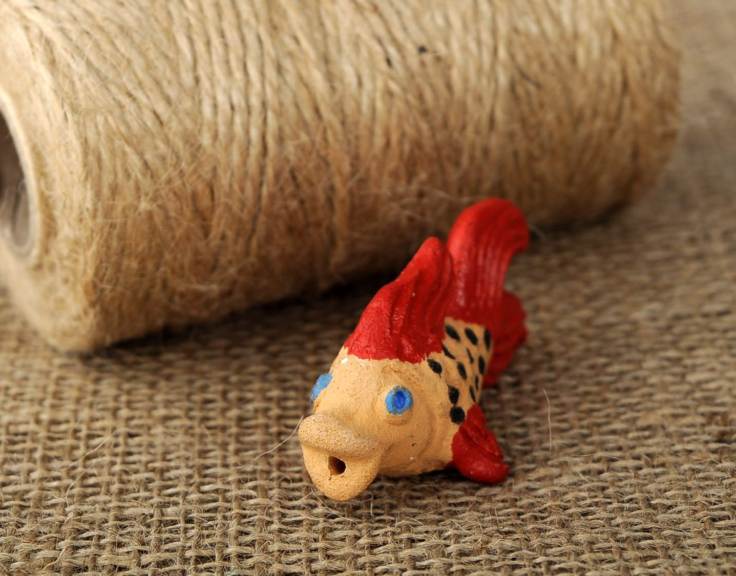 Clay penny whistle Small fish photo 5