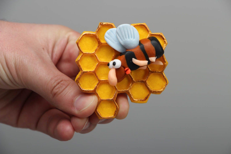 Decorative fridge magnet Bee photo 4