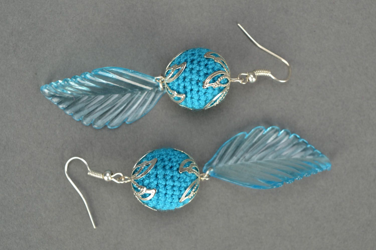 Blue earrings photo 3