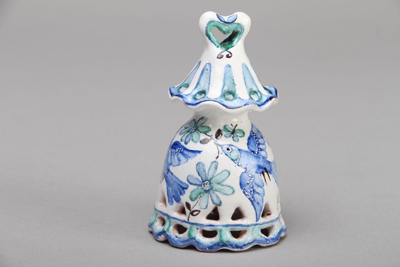 Beautiful painted ceramic bell photo 1