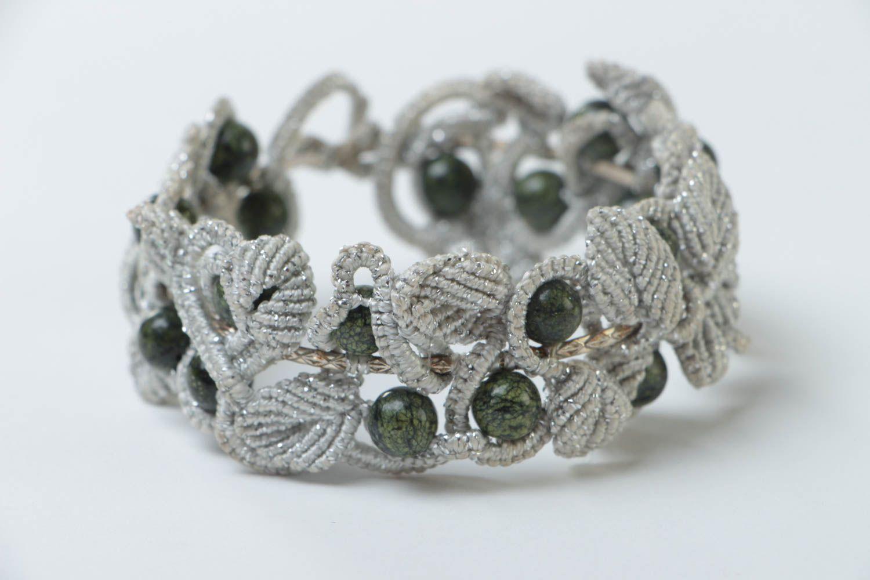 Armband aus Stoff handgemacht Damen Armband effektvoll Schmuck für Frauen foto 3