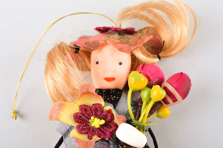 Unusual handmade rag doll collectible dolls nursery design decorative use only photo 3