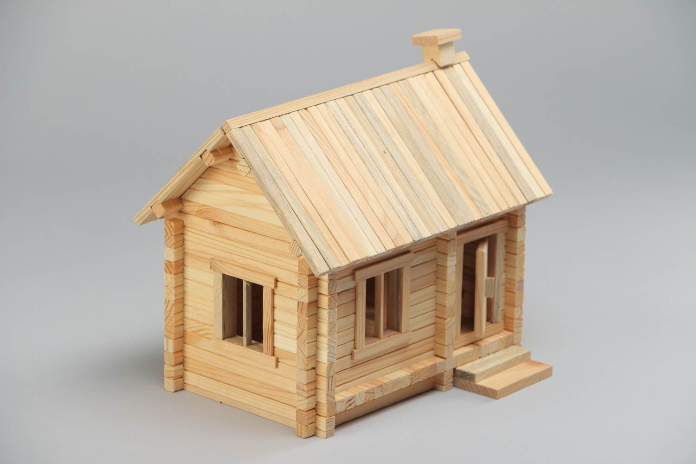 Madeheart jeu de construction de maison en bois 184 for Construction bois 87