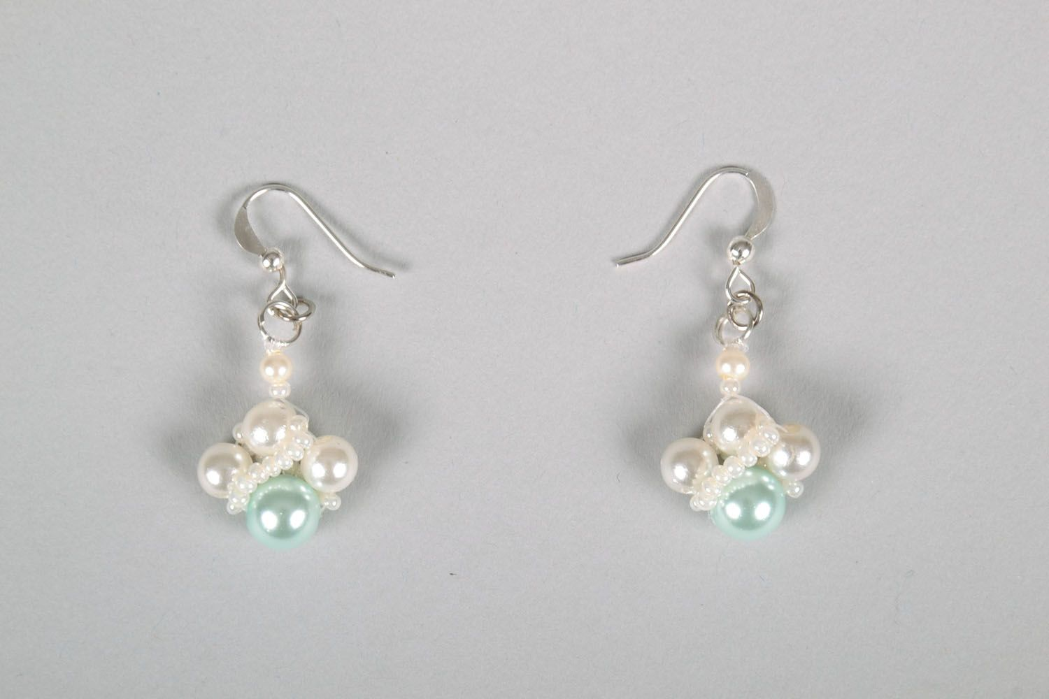 Earrings with beads photo 2