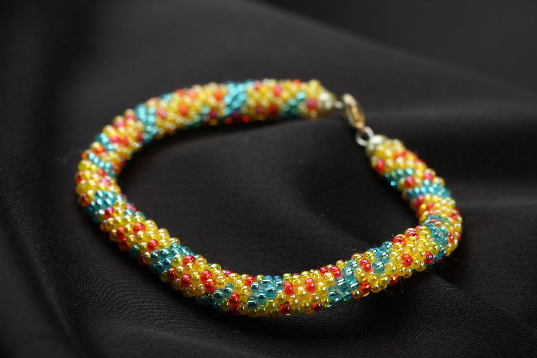 Beaded cord bracelet photo 2