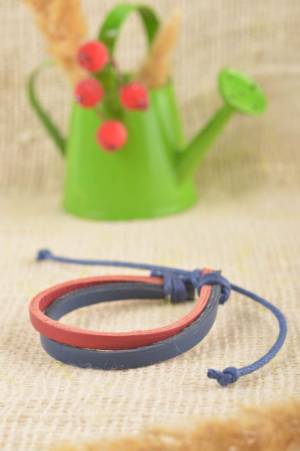 Stylish handmade leather bracelet wrist bracelet designs cool jewelry photo 1