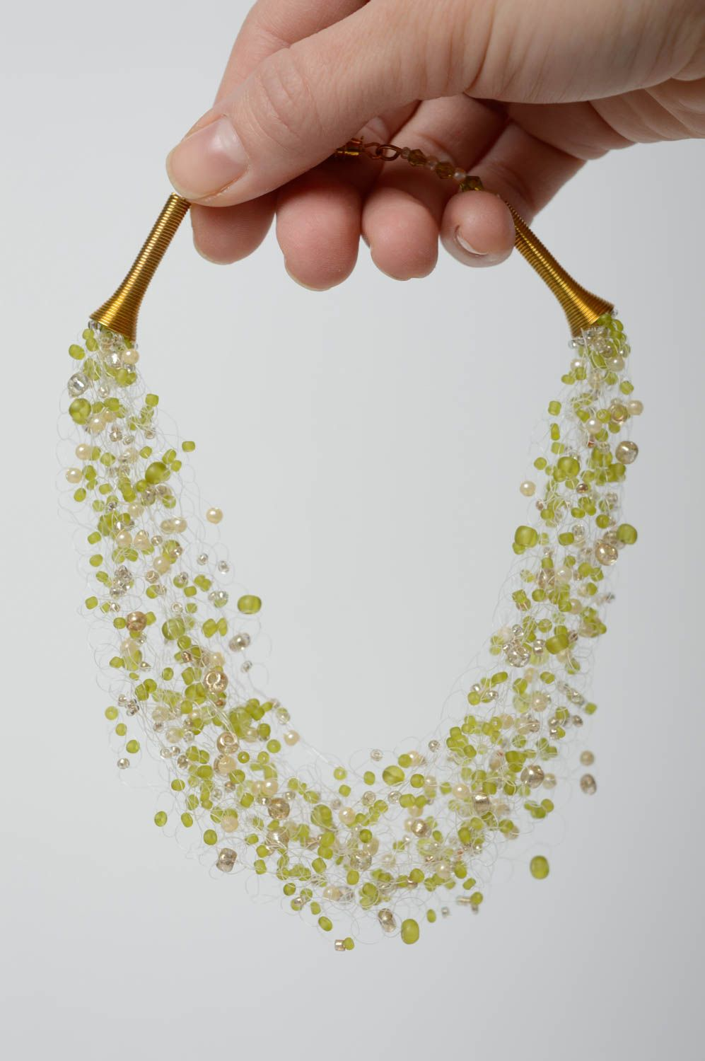 Airy necklace with Czech beads photo 5