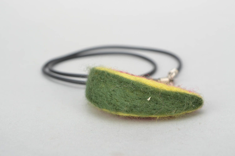 Woolen pendant Water-melon Slice photo 5