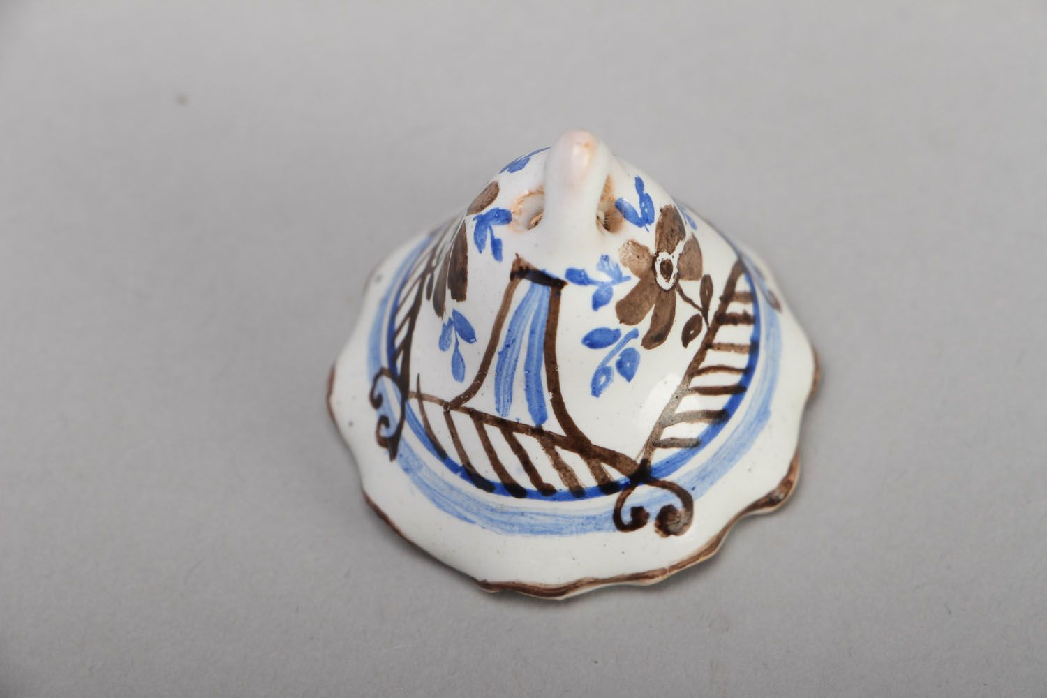 Painted ceramic bell photo 2