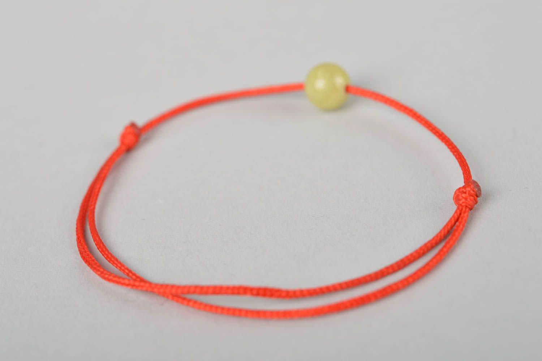 Украшение ручной работы модный браслет с оливковой бусиной красивый браслет фото 4