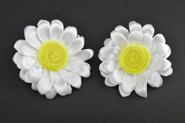 Beautiful handmade hair scrunchie textile flower hair tie trendy hair gift ideas photo 2