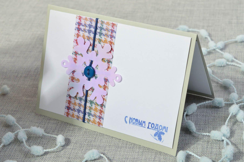Handmade Christmas card homemade cards New Year greeting card souvenir ideas photo 1