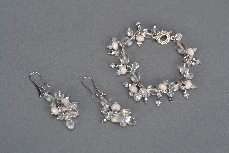 Jewelry set with plastic beads photo 3