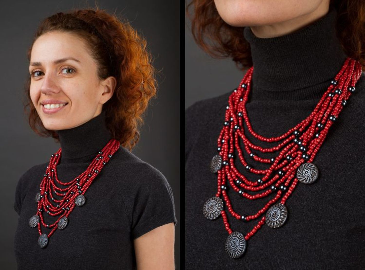 Necklace made of beads photo 5
