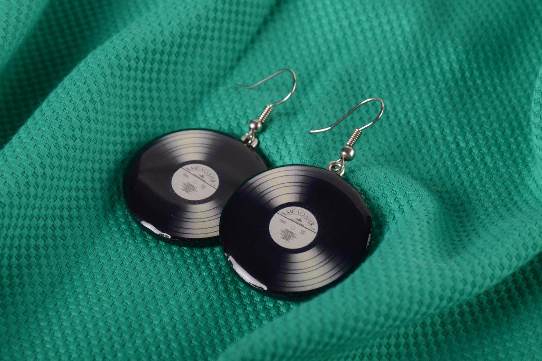 boucle d'oreille vinyl