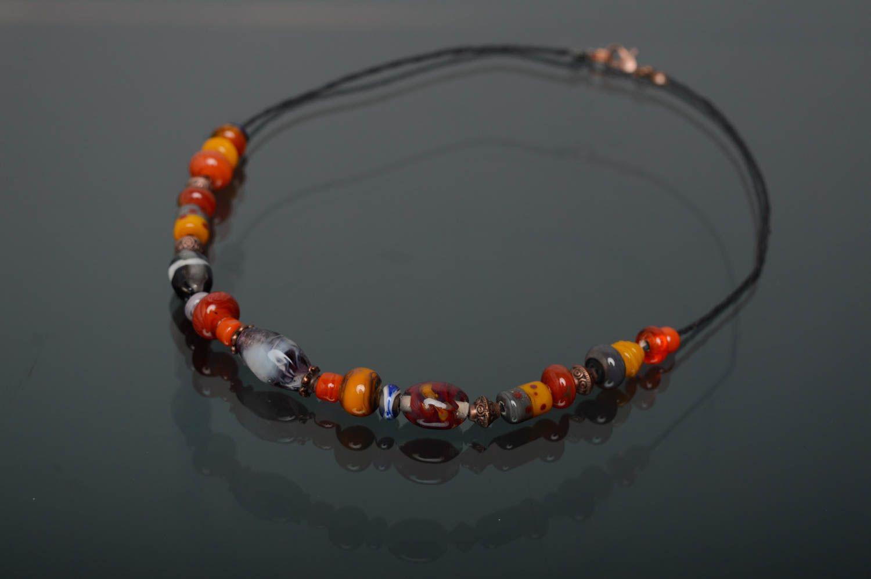 Handmade lampwork necklace Masha photo 1
