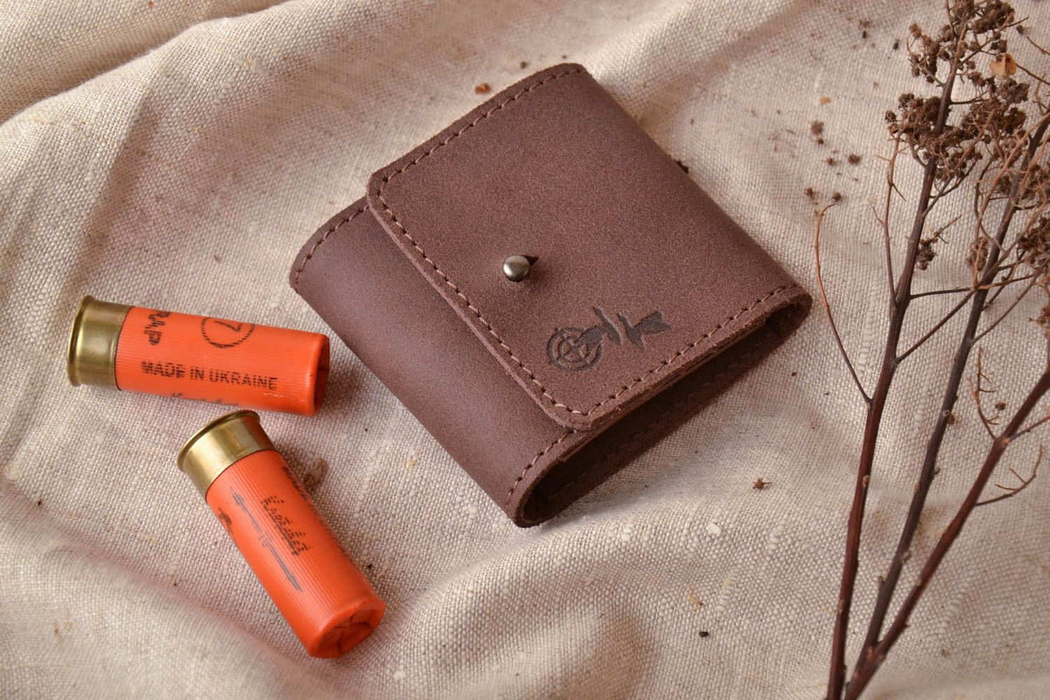 Leather case for five cartridges of 7,62 caliber photo 1