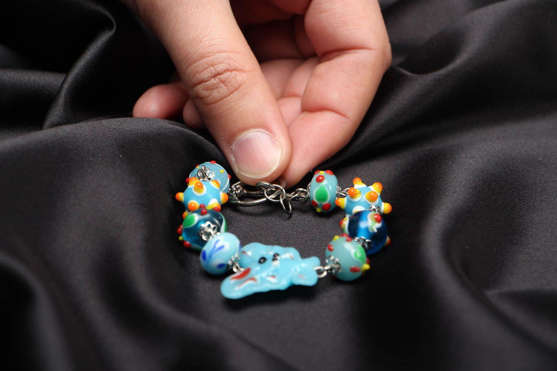 Bright children's beaded bracelet photo 3