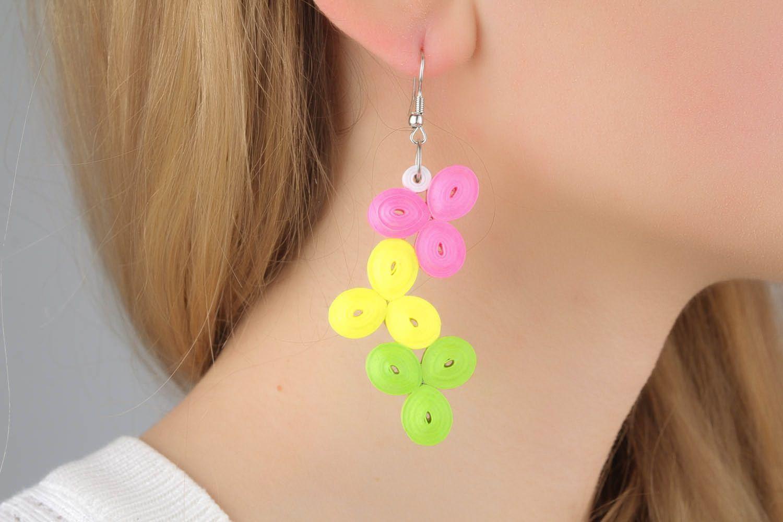 Long spring earrings  photo 1