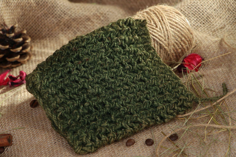Jute crochet body scrubber  photo 5