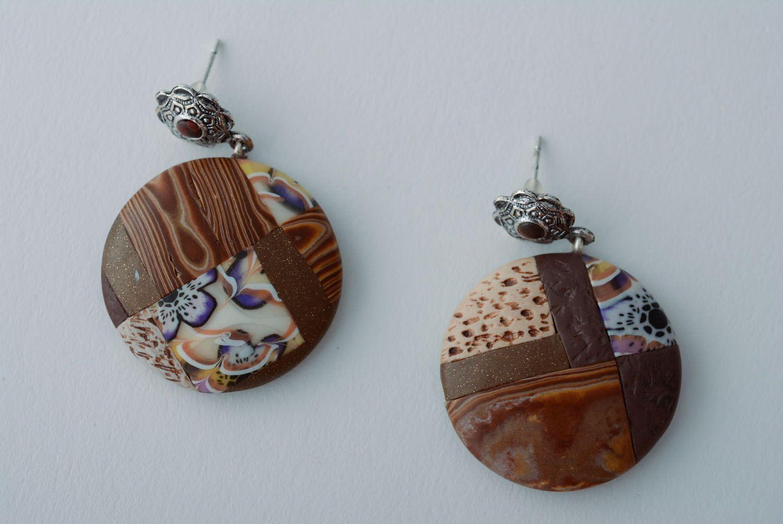 Homemade round earrings photo 1