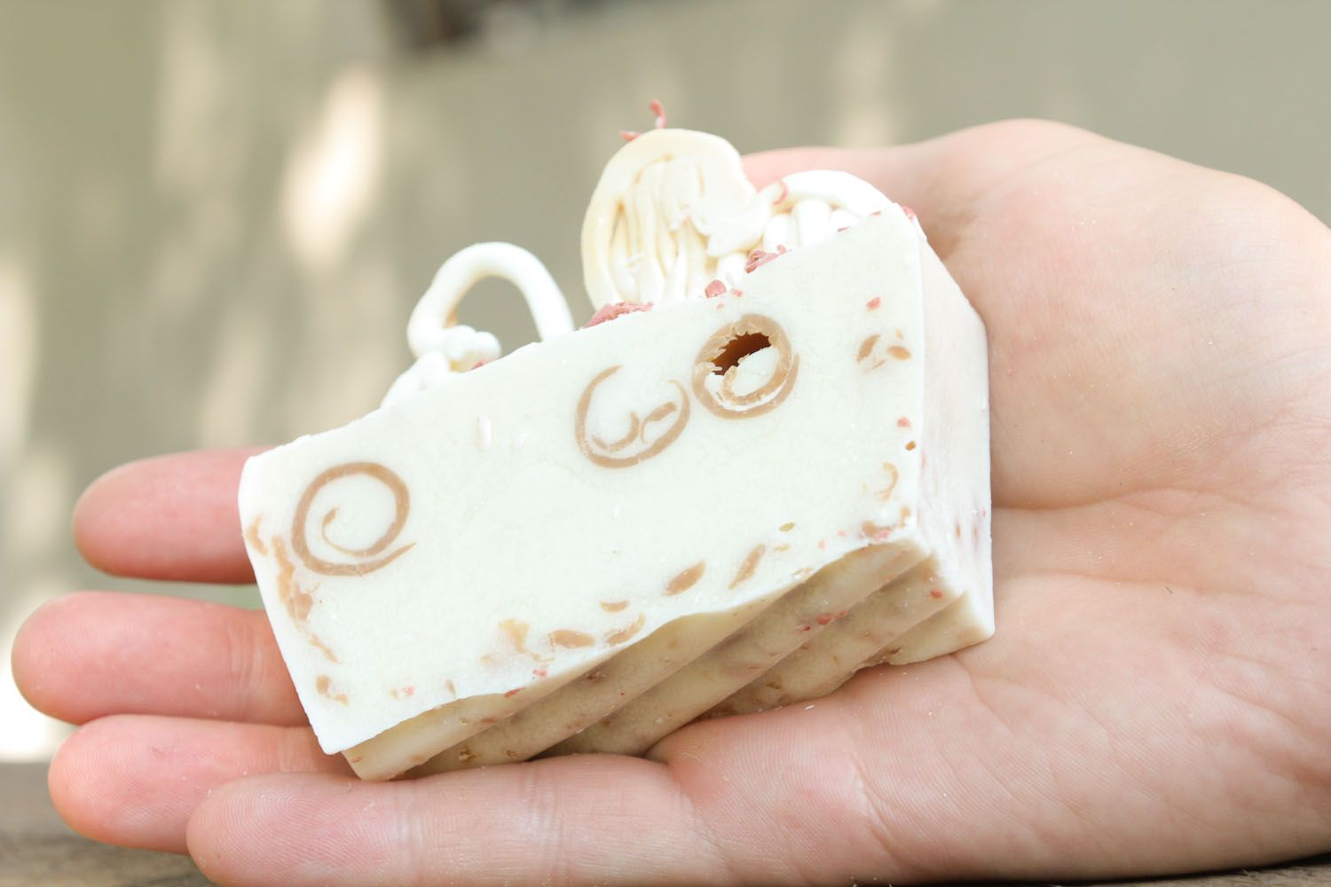 Handmade soap with essential oil of tea tree photo 1