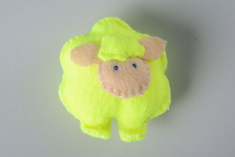 Fleece toy Yellow Lamb photo 1