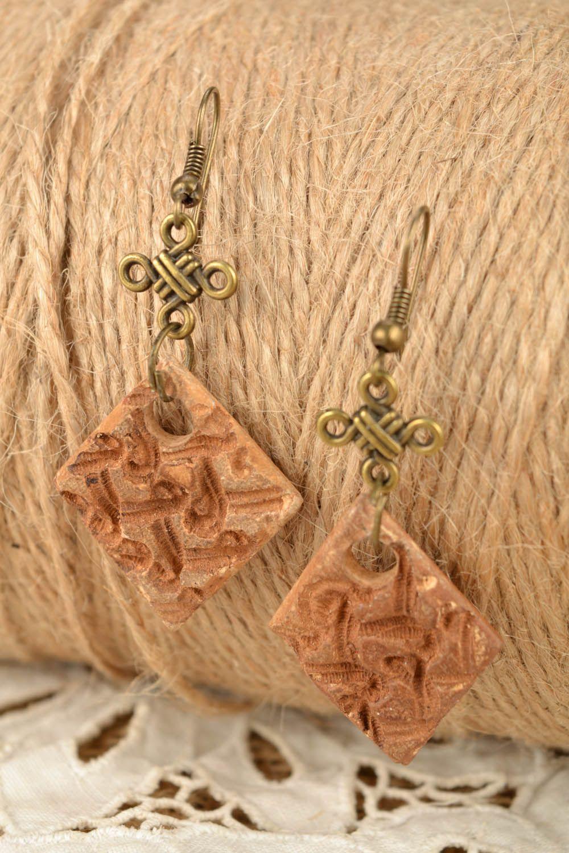 Square earrings photo 1